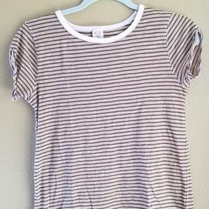 We The Free gold and olive striped top XS